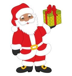Christmas African American Santa Claus vector image vector image