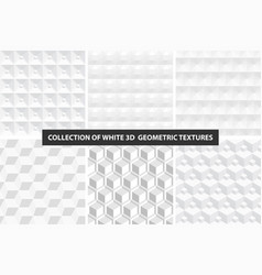 decorative white seamless textures vector image