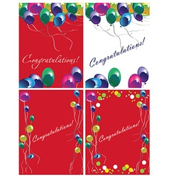 greeting cards with balloons vector image
