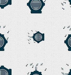 old analog radio icon sign Seamless pattern with vector image