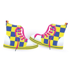 Two yellow sneakers vector