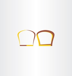 brown and yellow bread logo vector image vector image