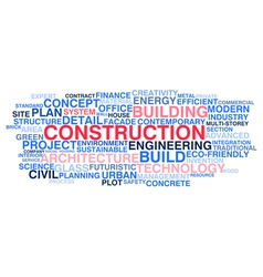 Building construction and civil engineering vector image vector image
