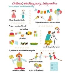 Childrens Birthday Infografics vector image