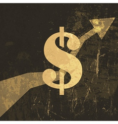 retro dollar sign vector image