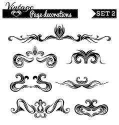 set 2 Vintage page decorations vector image vector image