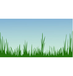 the idyllic cartoonish picture of a summer day vector image