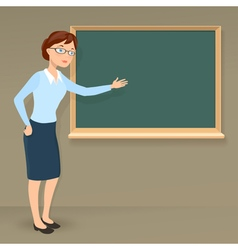 young female teacher vector image vector image
