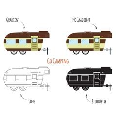Caravan Trailers Isolated vector image