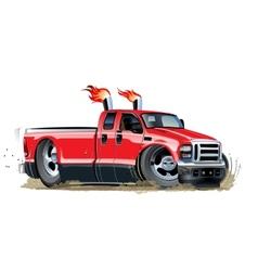 cartoon pickup vector image