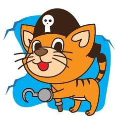 Cat Pirates vector image