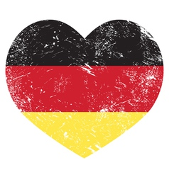 Germany heart shaped retro flag vector image vector image