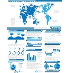INFOGRAPHIC DEMOGRAPHICS POPULATION 2 vector image