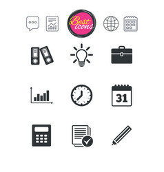 office documents and business icons vector image