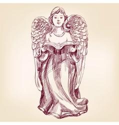 angel hand drawn llustration vector image vector image