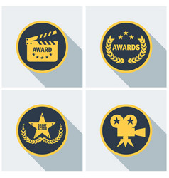 cinema awards set vector image vector image