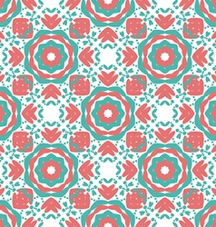 Colorful Geometric designs floral simple pattern vector image