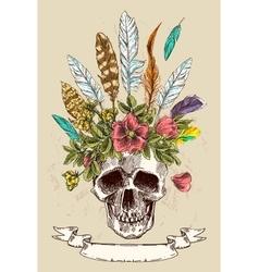Decorative poster boho style vector image