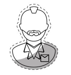 figure arrested man icon image vector image
