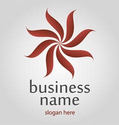 ribbon flower logo vector image
