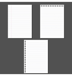 Sheets of paper vector image