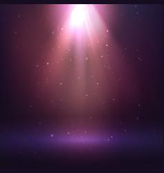 shining light effect on dark background vector image