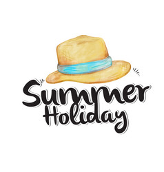 summer holiday hat white background image vector image