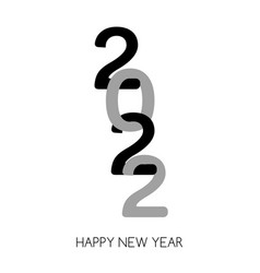 2022 happy new year greeting card trendy vector