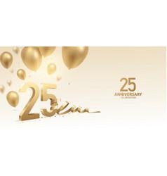 25th anniversary celebration background vector