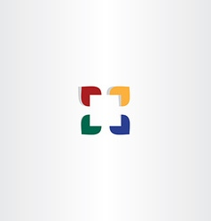 abstract color square business logo icon vector image