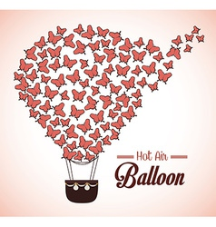 Airballoon design over beige background vector image
