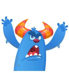 angry monster cartoon vector image