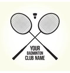 Badminton rackets silhouette club logo vector