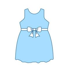Bagirl dress icon vector