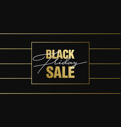 black friday sale gold banner luxury background vector image