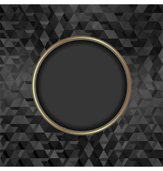 black textured background with banner vector image