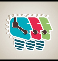 Call center people icon vector