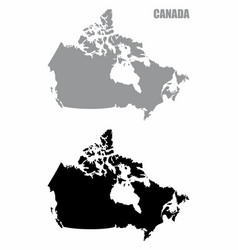 canada silhouette maps vector image