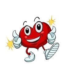 Cartoon healthy heart vector