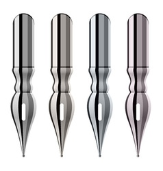 chrome ink pen nibs vector image