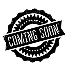 Coming soon stamp vector