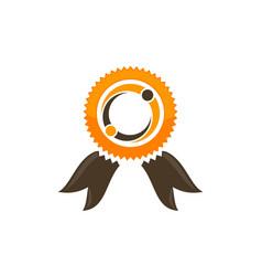 Connection reward logo design template vector