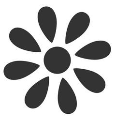 Daisy flower flat icon vector