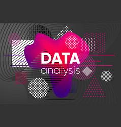 data analysis background chaos analytics design vector image