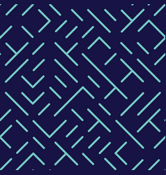 diagonal lines and shapes seamless pattern vector image