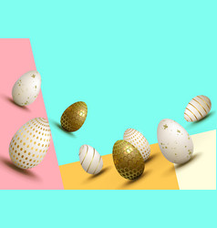 Easter variegated multi-colored composition with a vector