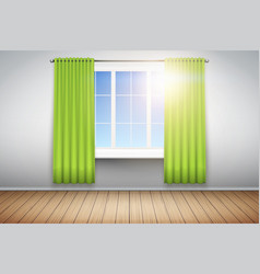 example of empty room with window vector image