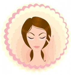 Face beauty vector