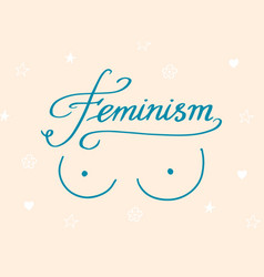 Feminism slogan in vintage style girl power and vector