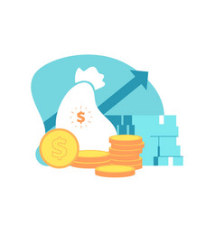 financial performance business capital money vector image
